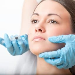 plastic face correction using botox injections