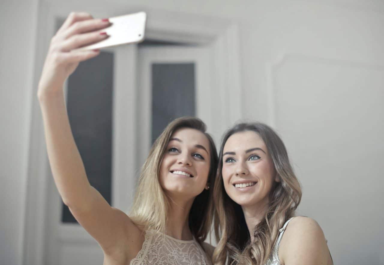 Two women taking a selfie